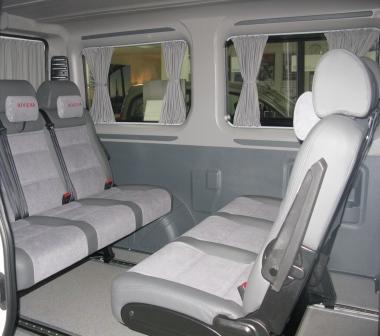 Салон-трансформер пассажирского микроавтобуса Пежо Боксер 9 мест.